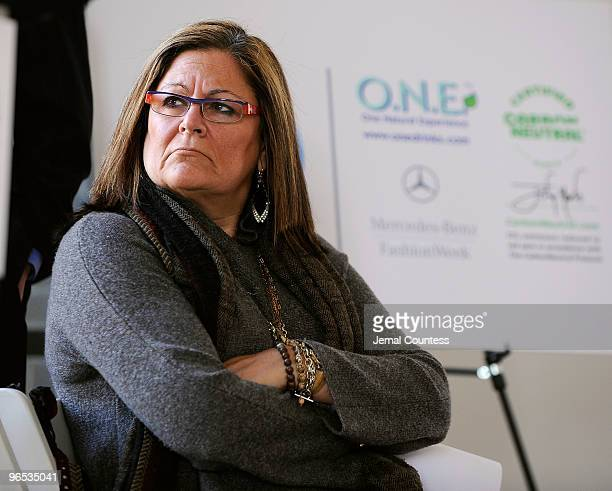 Fern Mallis Senior Vice President IMG Fashion attends a press conference hosted by Tetra Pak to announce the Carbon Neutral Initiative For Mercedes...