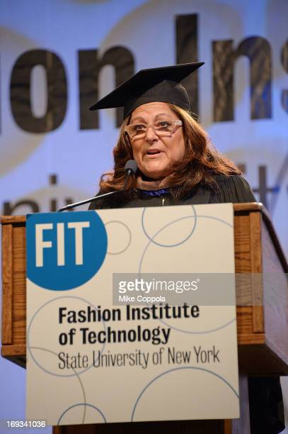 Fern Mallis speaks at the 2013 Fashion Institute Of Technology Commencement ceremony at Jacob Javits Center on May 23 2013 in New York City