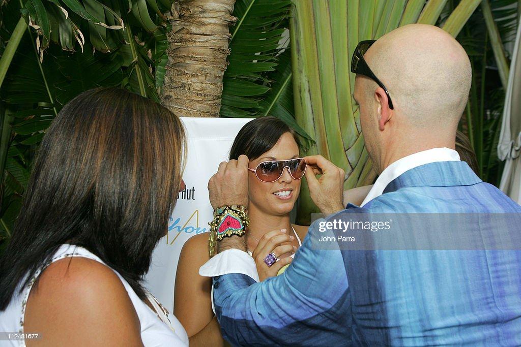 Fern Mallis with Amanda Beard in Ray Ban sunglasses and Robert Verdi in Chanel sunglasses