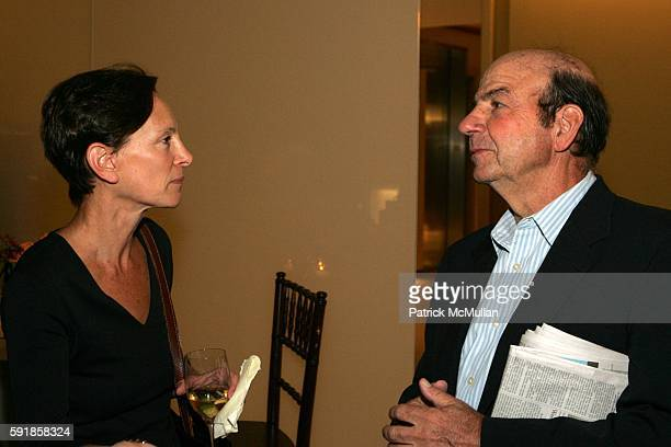 Fern Nesson and Calvin Trillin attend A Private Screening of Warner Independent Pictures Good Luck Good Night at Time Warner Theatre on October 5...