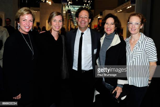 Fern Tessler Kim Conaty Adam Weinberg Kim McCarty and Sally Morgan Lehman attend the IFPDA Fine Art Print Fair Opening Preview at The Jacob K Javits...