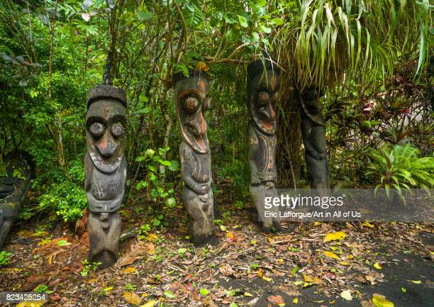 Fern tree grade figures in the jungle Ambrym island Olal Vanuatu on August 30 2007 in Olal Vanuatu
