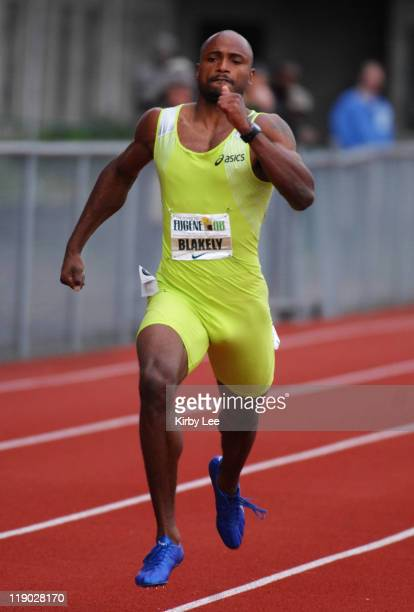 Fernada Blakely won the 300 meters in 3250 in the Road To Eugene '08 track field meet at the University of Oregon's Hayward Field in Eugene Ore on...