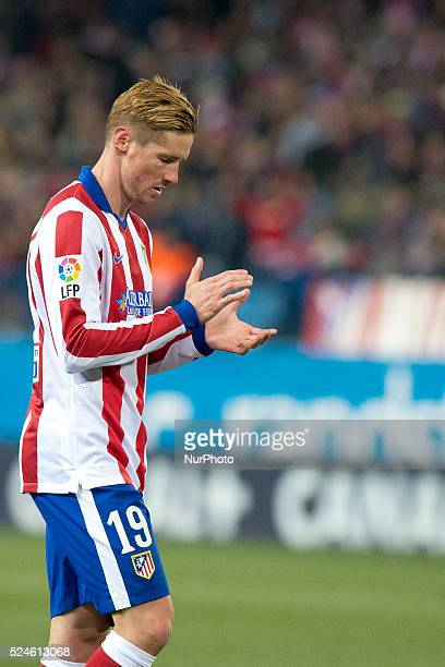 Fernado Torres of Atletico de Madrid during the Copa del Rey Round of 16 First Leg match between Club Atletico de Madrid and Real Madrid at Vicente...