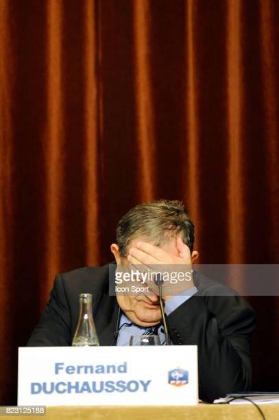 Fernand DUCHAUSSOY Election du president de la Federation Francaise de Football Hotel le Meridien Paris