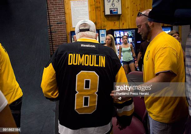 Fernand Dumoulin Brian Dumoulin's grandfather wears his number at the Biddeford Arena