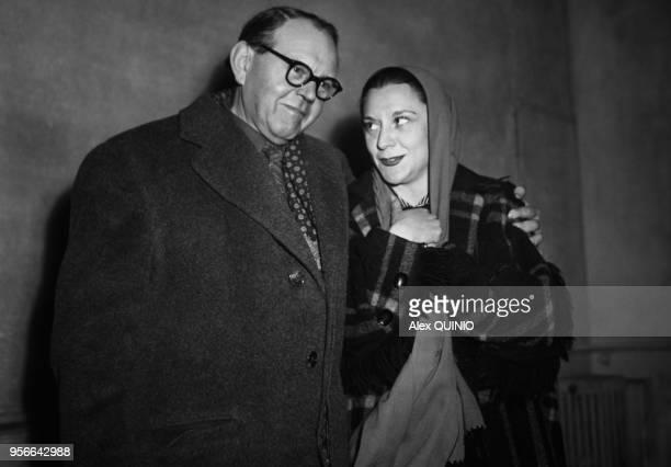 Fernand Ledoux et Maria Casares à Paris dans les années 5060 France Circa 1950
