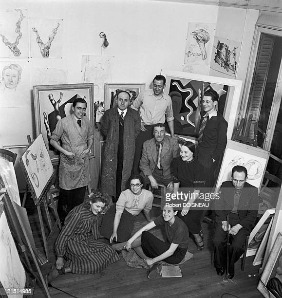 Fernand Leger And His Painting School , He And Doisneau Were Neighbours In Montrouge, And The Latter Photographed The School And Some Pupils' Works,...