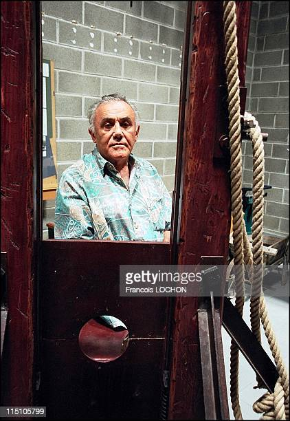 Fernand Meyssonnier former French executioner in Algiers in Fontaine De Vaucluse France on September 17 2002 Author of Paroles de bourreau