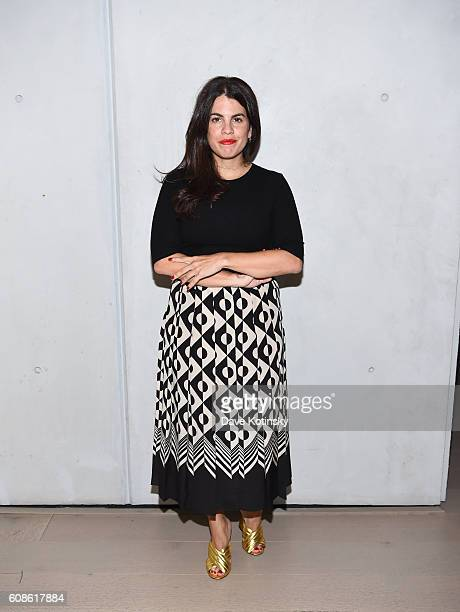 "Fernanda Abdalla attends the Daniel Arsham ""Colorblind Artist: In Full Color"" at Spring Place on September 19, 2016 in New York City."