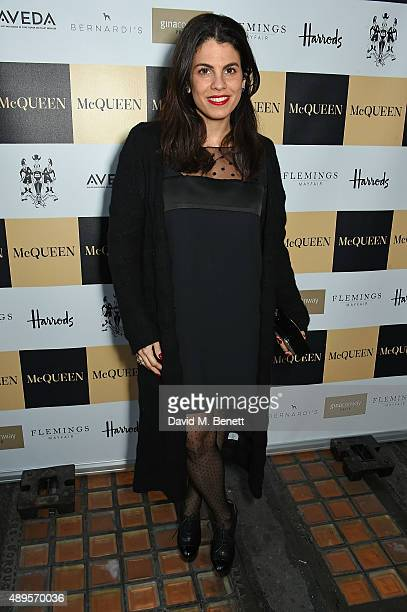 Fernanda Abdalla attends the exclusive viewing of 'McQueen' hosted by Karim Al Fayed for Lonely Rock Investments during London Fashion Week at...