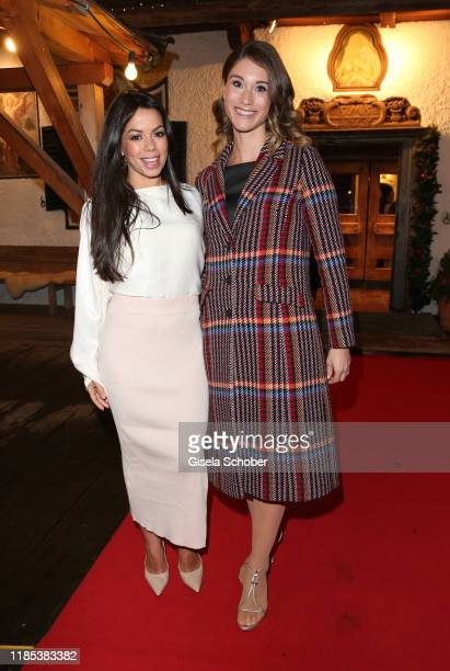 Fernanda Brandao and Janina Lin Otto at the Lena Gercke x ABOUT YOU Christmas Dinner and Party at Hotel Stanglwirt on November 2019 in Going near...