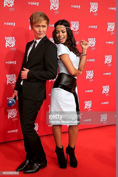 Fernanda Brandao and Pierre M Krause attend the red carpet prior to the SWR3 New Pop Festival 'Das Special' at Festspielhaus on September 13 2014 in...