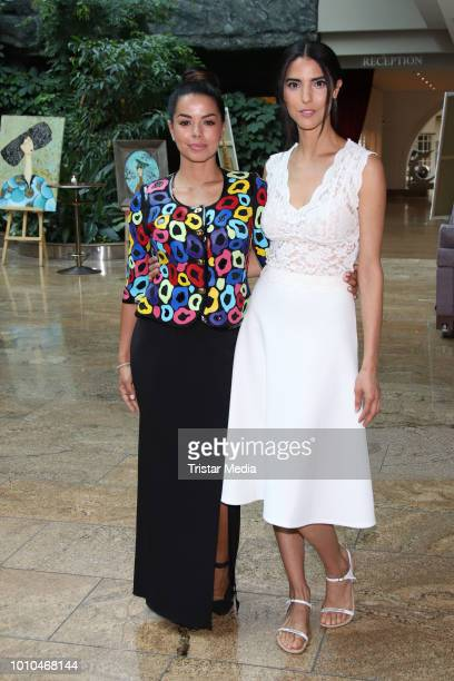 Fernanda Brandao and Zoe Helali during the Winter/Autumn Fashion Show 'Breaking The Ice' of Liz Malraux on August 2 2018 in Hamburg Germany