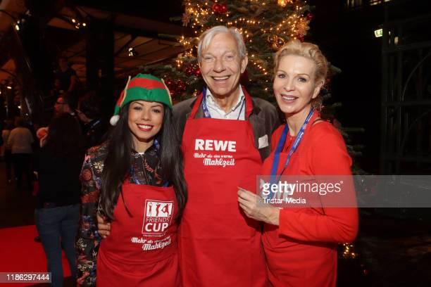 Fernanda Brandao Jo Groebel Gritt Weiss during the charity event Mehr als eine warme Mahlzeit on December 3 2019 in Hamburg Germany