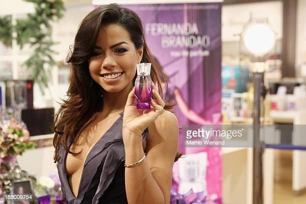 Fernanda Brandao presents her new parfum at Karstadt Store on November 14 2013 in Cologne Germany