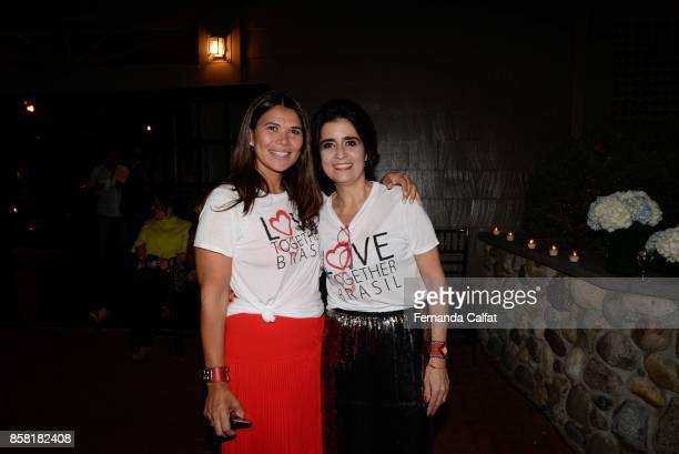 Fernanda Calfat and Geralda Sarraf attend at Po de Arroz Runway at New York Fashion Week Bridal October 2017at Hendrick's Tavern on October 5 2017 in...