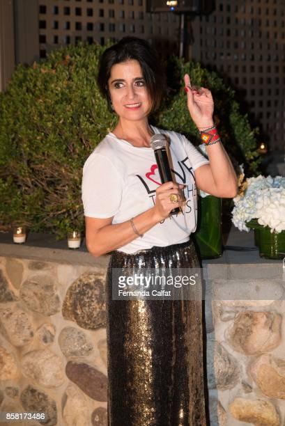 Fernanda Calfat attends at Po de Arroz Runway at New York Fashion Week Bridal October 2017 at Hendrick's Tavern on October 5 2017 in Roslyn New York