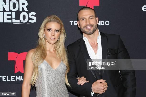 Fernanda Castillo and Rafael Amaya attend 'El Senor De Los Cielos' season 5 premiere red carpet at Cinemex Antara Polanco on June 20 2017 in Mexico...