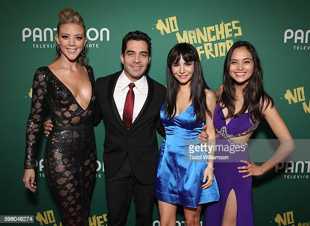 Fernanda Castillo Omar Chaparro Martha Higareda and Karen Furlong attend the World Premiere of Pantelion's No Manches Frida on August 30 2016 in Los...