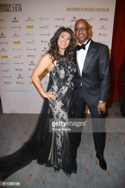 Fernanda de Sousa Dibaba and her husbandYared Dibaba during the press ball Hamburg at Hotel Atlantik on January 27, 2018 in Hamburg, Germany.