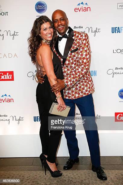 Fernanda de Sousa Dibaba and Yared Dibaba attend the 'Berlin Opening Night Of Gala & Ufa Fiction on February 05, 2015 in Berlin, Germany.