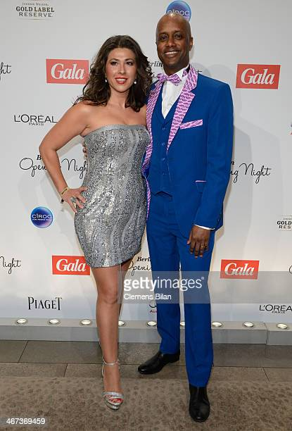 Fernanda de Sousa Dibaba and Yared Dibaba attend the Berlin Opening Night Of Gala & Ufa Fiction during the 64th Berlinale International Film Festival...