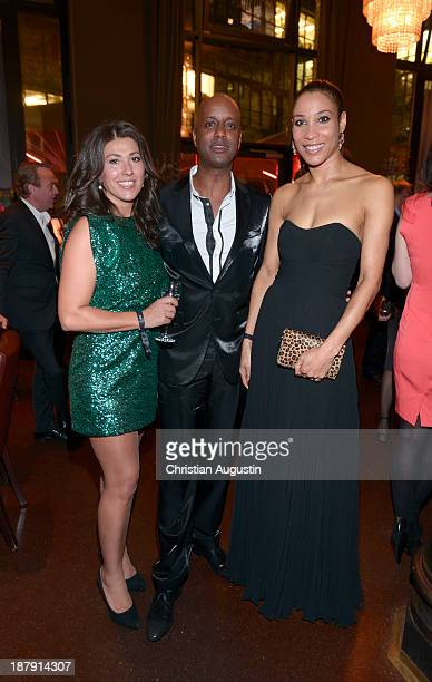 """Fernanda Dibaba, Yared Dibaba and Annabelle Mandeng attend GALA event """"Where Diamonds meet Red Carpet"""" at the restaurant """"The Bank"""" on November 13,..."""