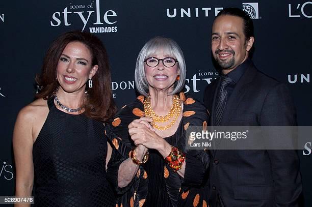 Fernanda Fisher Rita Moreno and Lin Manuel Miranda attend the Vanidades Icons of Style Gala at the Mandarin Oriental NYC in New York City �� LAN
