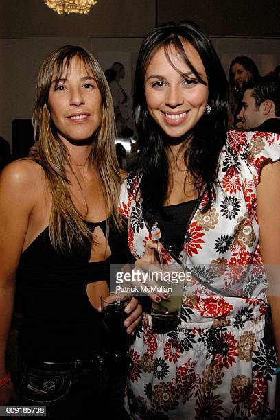 Fernanda Gomez and Kimberley Barroso attend BIG Magazine 10 Cane Rum Launch BIG Show at Beaver Bar on February 8 2007 in New York City
