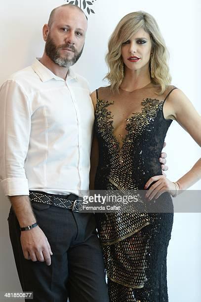 Fernanda Lima and Samuel Cirnansck attend the Samuel Cirnansck pocket show during Sao Paulo Fashion Week Summer 2014/2015 at the Citroen flagship...
