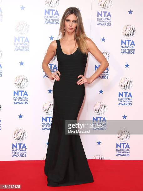 Fernanda Lima poses in the winners room at the National Television Awards at 02 Arena on January 22 2014 in London England