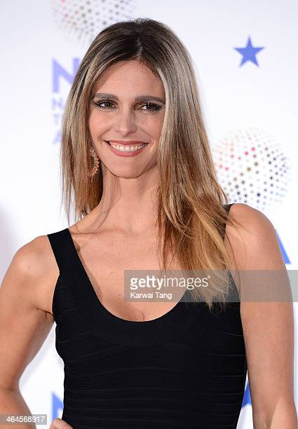 Fernanda Lima poses in the winners room at the National Television Awards at the 02 Arena on January 22 2014 in London England