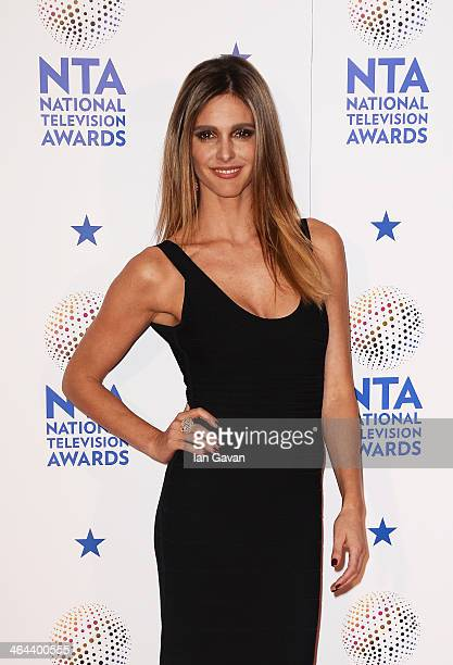 Fernanda Lima poses in the winners room during the National Television Awards at 02 Arena on January 22 2014 in London England
