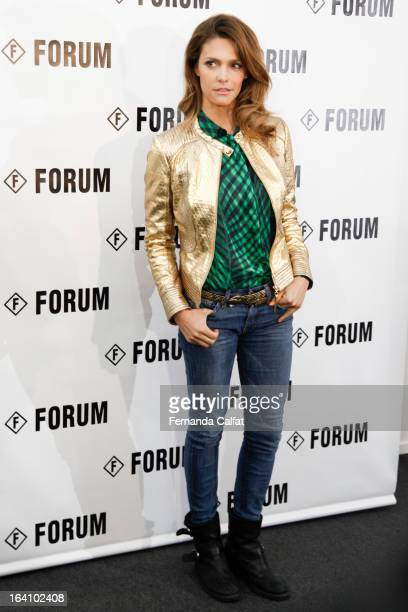 Fernanda Lima seen backstage at Forum show during Sao Paulo Fashion Week Summer 2013/2014 on March 19 2013 in Sao Paulo Brazil