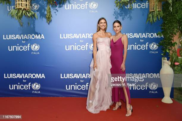 Fernanda Liz and Roberta Martins attend the photocall at the Unicef Summer Gala Presented by Luisaviaroma at on August 09 2019 in Porto Cervo Italy