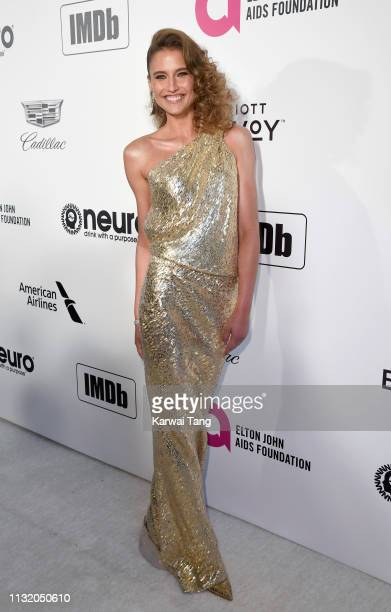 Fernanda Liz attends the 27th annual Elton John AIDS Foundation Academy Awards Viewing Party Celebrating EJAF And The 91st Academy Awards on February...