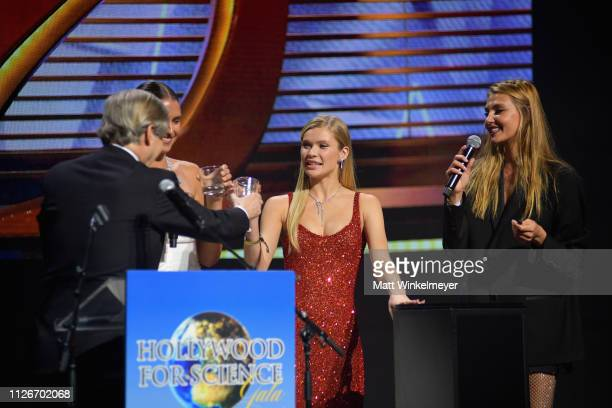 Fernanda Liz Josie Canseco and Alina Baikova speak onstage at the UCLA IoES honors Barbra Streisand and Gisele Bundchen at the 2019 Hollywood for...