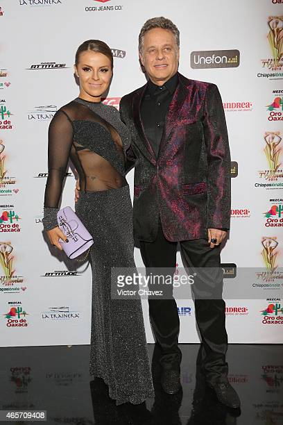 Fernanda Lopez and Alexis Ayala arrive at Premios TV y Novelas 2015 at Televisa San Angel on March 9 2015 in Mexico City Mexico