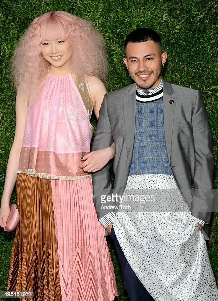 Fernanda Ly and designer and finalist Rio Uribe of Gypsy Sport attend the 12th annual CFDA/Vogue Fashion Fund Awards at Spring Studios on November 2,...