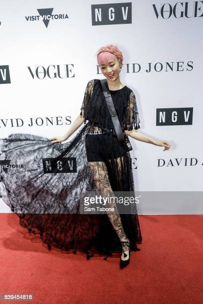 Fernanda Ly arrives ahead of the NGV Gala at NGV International on August 26 2017 in Melbourne Australia