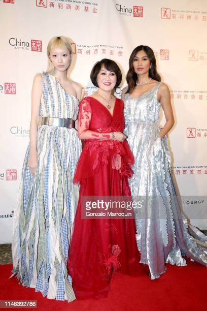 Fernanda Ly Gemma Chan and YueSai Kan pose for a photo during the China Fashion Gala 2019 at The Plaza Hotel on May 01 2019 in New York City