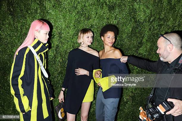 NEW YORK NY NOVEMBER 7 Fernanda Ly Katie Moore and Lineisy Montero Feliz attend the 13th Annual CFDA/Vogue Fashion Fund Awards at Spring Studios on...