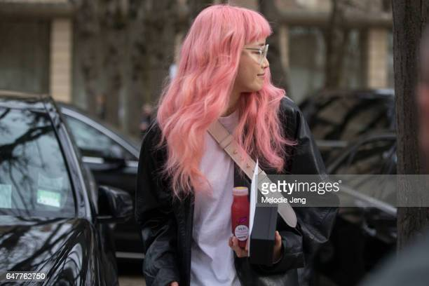 Fernanda Ly outside the Dior show on March 3 2017 in Paris France
