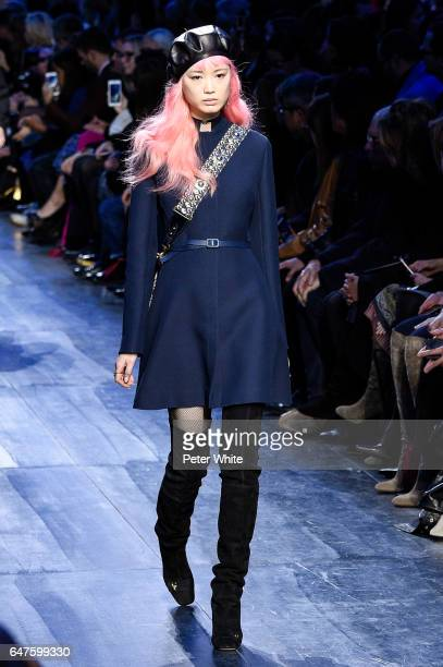 Fernanda Ly walks the runway during the Christian Dior show as part of the Paris Fashion Week Womenswear Fall/Winter 2017/2018 on March 3 2017 in...