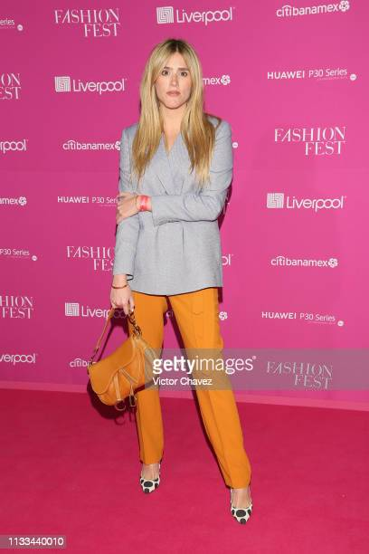 Fernanda Medina attends the Liverpool Fashion Fest Spring/Summer 2019 at Quarry Studios on March 28 2019 in Mexico City Mexico