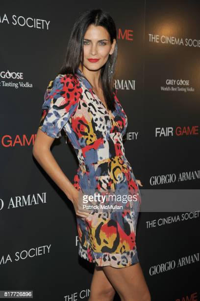 Fernanda Motta attends GIORGIO ARMANI THE CINEMA SOCIETY host a screening of 'FAIR GAME' at The Museum of Modern Art on October 6 2010 in New York...