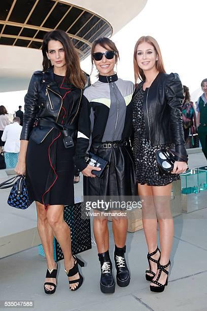 Fernanda Motta Sabrina Sato and Marina Ruy Barbosa attend Louis Vuitton 2017 Cruise Collection at MAC Niter on May 28 2016 in Niteroi Brazil
