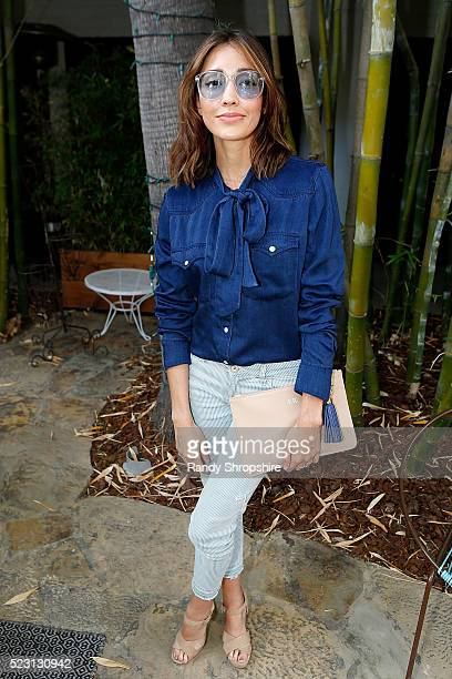 Fernanda Romero attends the Villoid garden tea party hosted by Alexa Chung at the Hollywood Roosevelt Hotel on April 21 2016 in Hollywood California