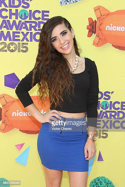 Fernanda Urdapilleta arrives at Nickelodeon Kids' Choice Awards Mexico 2015 Red Carpet at Auditorio Nacional on August 15 2015 in Mexico City Mexico
